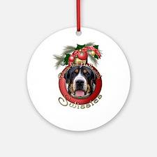 Christmas - Deck the Halls - Swissies Ornament (Ro