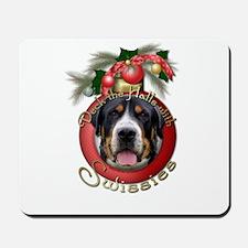 Christmas - Deck the Halls - Swissies Mousepad