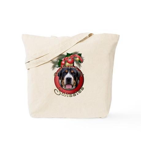 Christmas - Deck the Halls - Swissies Tote Bag