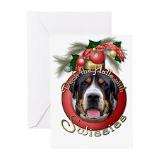 Christmas - Deck the Halls - Swissies Greeting Car