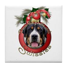 Christmas - Deck the Halls - Swissies Tile Coaster
