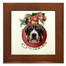 Christmas - Deck the Halls - Swissies Framed Tile