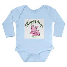 Piggy Long Sleeve Infant Bodysuit