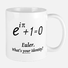 eulerWhatsYourIdentity-blackLetters copy Mugs