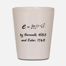 e by Bernoulli and Euler Shot Glass