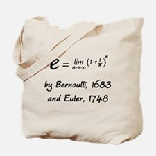 e by Bernoulli and Euler Tote Bag
