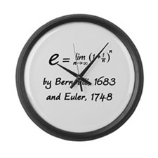 e by Bernoulli and Euler Large Wall Clock