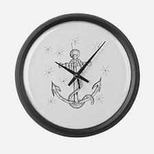 Cute Anchor Large Wall Clock