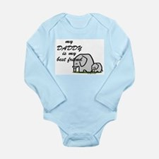 Elephants Long Sleeve Infant Bodysuit