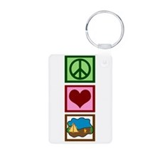 Peace Love Camping Keychains