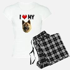 I Love My Akita Pajamas