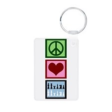 Peace Love Chess Keychains
