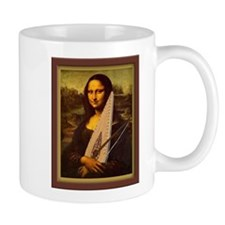 Mona Lisa canvas extra large Mugs