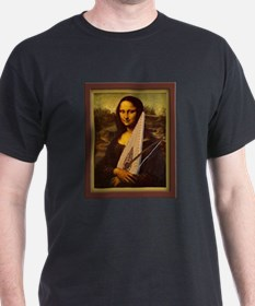 Mona Lisa canvas extra large T-Shirt
