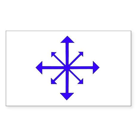 Chaos symbol Rectangle Sticker