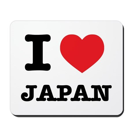 I Heart Japan Mousepad
