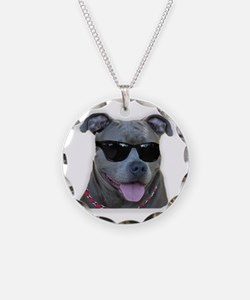 Pitbull in sunglasses Necklace
