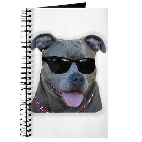 Pitbull in sunglasses Journal