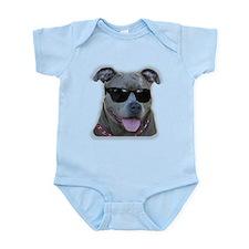 Pitbull in sunglasses Infant Bodysuit