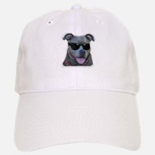 Pitbull in sunglasses Baseball Baseball Cap