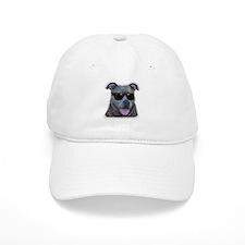 Pitbull in sunglasses Baseball Cap