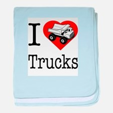 I Love Trucks baby blanket