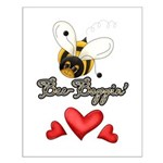 Funny Bumble Bee Small Poster