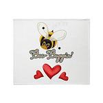 Funny Bumble Bee Throw Blanket