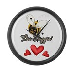 Funny Bumble Bee Large Wall Clock