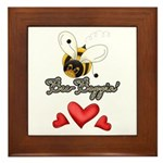 Funny Bumble Bee Framed Tile