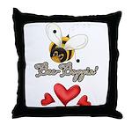 Funny Bumble Bee Throw Pillow