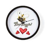 Funny Bumble Bee Wall Clock