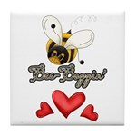 Funny Bumble Bee Tile Coaster