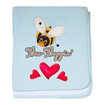 Funny Bumble Bee baby blanket