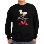 Funny Bumble Bee Sweatshirt (dark)