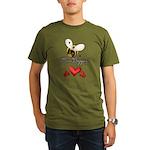 Funny Bumble Bee Organic Men's T-Shirt (dark)