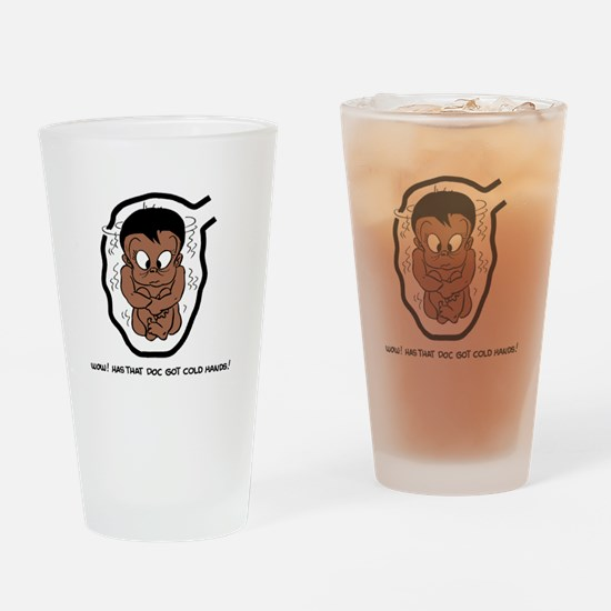 EGGBERT Cold Hands black Drinking Glass