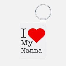 I Love My Nanna Keychains