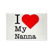 I Love My Nanna Rectangle Magnet