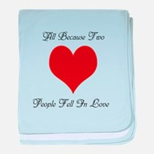 Two People Fell in Love baby blanket