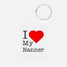 I Love My Nanner Keychains