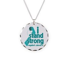 Stand Strong Cervical Cancer Necklace Circle Charm