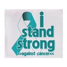 Stand Strong Cervical Cancer Throw Blanket