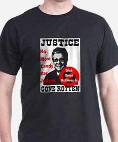 Justice Gone Rotten Black T-Shirt
