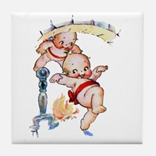 Kewpies Come Down the Chimney Tile Coaster