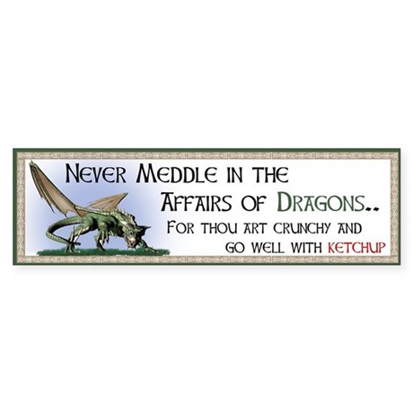 Dragons Sticker (Bumper)