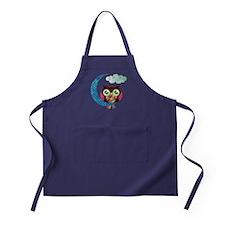 My Crescent Owl Apron (dark)