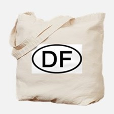 DF - Initial Oval Tote Bag