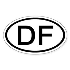 DF - Initial Oval Oval Decal