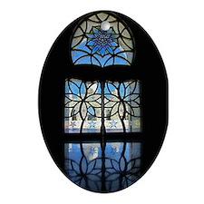 Mosque Foyer Window Ornament (Oval)